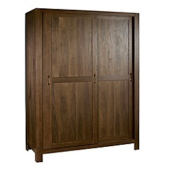 Debenhams - Walnut 'Lyon' double sliding-door wardrobe