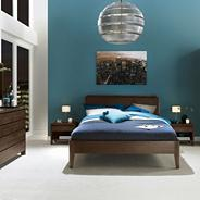 Walnut 'Domino' bedstead