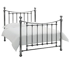 Debenhams - Antique nickel 'Isabelle' bed frame