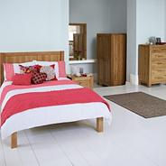 Washed oak 'Lyon' bed frame
