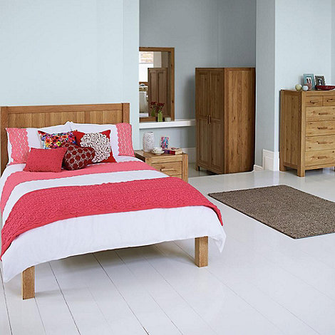 Debenhams - Washed oak +Lyon+ bed frame