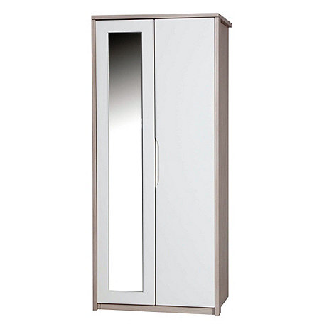 Debenhams - Champagne and cream 'Euston' double wardrobe with mirror