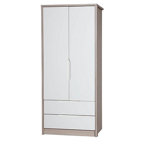 Debenhams - Champagne and cream +Euston+ double wardrobe with drawers