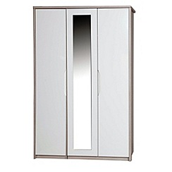 Debenhams - Champagne and cream 'Euston' triple wardrobe with mirror