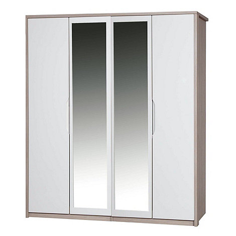Debenhams - Champagne and cream +Euston+ 4-door wardrobe with mirror