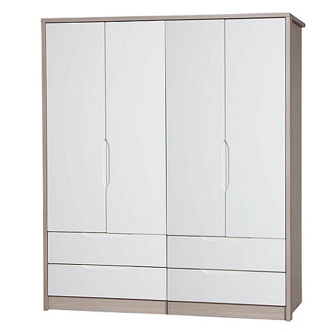 Debenhams - Champagne and cream +Euston+ 4-door wardrobe with drawers