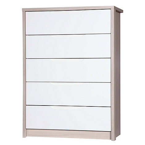 Debenhams - Champagne and cream 'Euston' 5 drawer chest