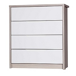 Debenhams - Champagne and cream 'Euston' 4 drawer chest