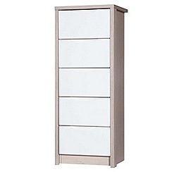 Debenhams - Champagne and cream 'Euston' tall 5 drawer chest