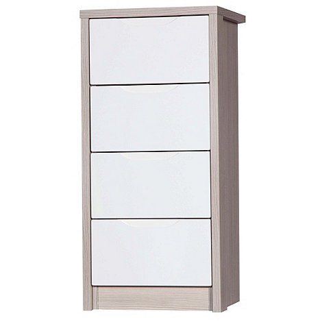 Debenhams - Champagne and cream +Euston+ tall 4 drawer chest