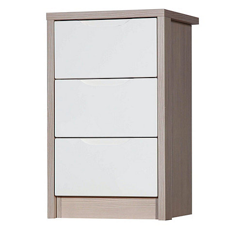 Debenhams - Champagne and cream +Euston+ bedside cabinet with 3 drawers