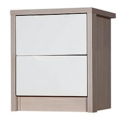 Debenhams - Champagne and cream 'Euston' bedside cabinet with 2 drawers