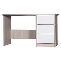 Debenhams - Champagne and cream 'Euston' dressing table with mirror and stool