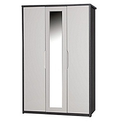 Debenhams - Sand and grey 'Euston' triple wardrobe with mirror