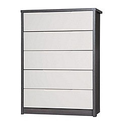 Debenhams - Sand and grey 'Euston' 5 drawer chest