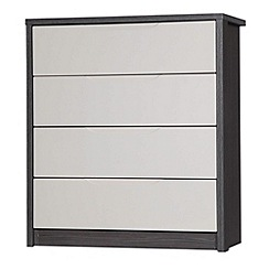 Debenhams - Sand and grey 'Euston' 4 drawer chest