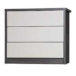 Debenhams - Sand and grey 'Euston' 3 drawer chest