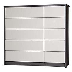 Debenhams - Sand and grey 'Euston' 10 drawer chest