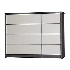 Debenhams - Sand and grey 'Euston' 8 drawer chest