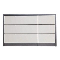 Debenhams - Sand and grey 'Euston' 6 drawer chest