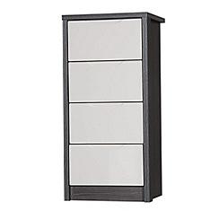 Debenhams - Sand and grey 'Euston' tall 4 drawer chest