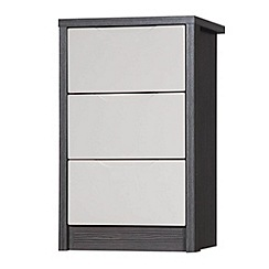 Debenhams - Sand and grey 'Euston' bedside cabinet with 3 drawers