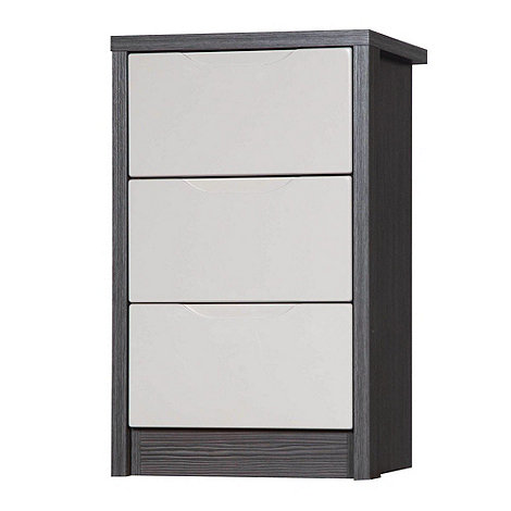 Debenhams - Sand and grey +Euston+ bedside cabinet with 3 drawers