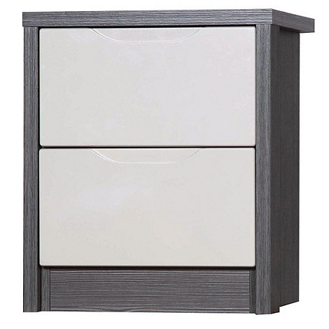Debenhams - Sand and grey 'Euston' bedside cabinet with 2 drawers