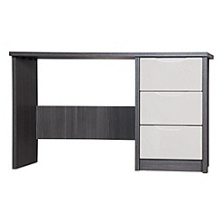 Debenhams - Sand and grey 'Euston' dressing table with mirror