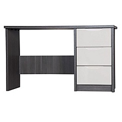 Debenhams - Sand and grey 'Euston' dressing table with mirror and stool