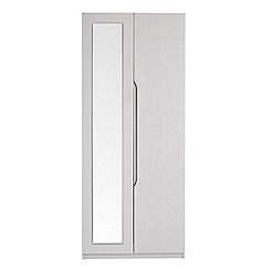 Debenhams - Grey 'Brighton' double wardrobe with mirror