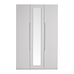 Debenhams - Grey 'Brighton' triple wardrobe with mirror