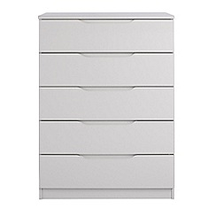 Debenhams - Grey 'Brighton' 5 drawer chest
