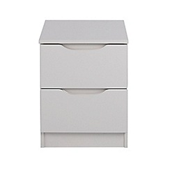 Debenhams - Grey 'Brighton' bedside cabinet with 2 drawers