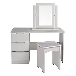 Debenhams - Grey 'Brighton' dressing table with stool