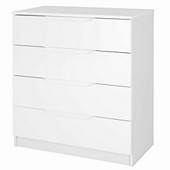 Debenhams - White 'Brighton' 4 drawer chest