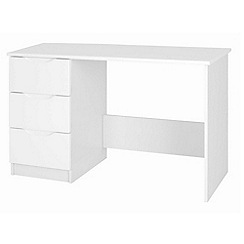 Debenhams - White 'Brighton' dressing table with mirror