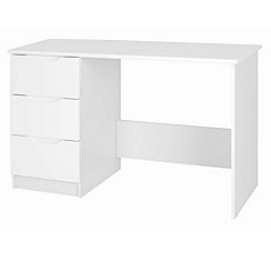 Debenhams - White 'Brighton' dressing table with stool