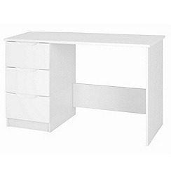 Debenhams - White 'Brighton' dressing table with mirror and stool
