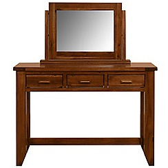 Debenhams - Acacia 'Elba' dressing table with mirror
