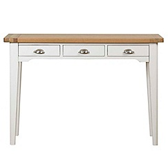 Debenhams - Oak and painted 'Wadebridge' dressing table