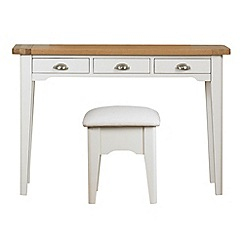 Debenhams - Oak and painted 'Wadebridge' dressing table with stool