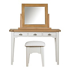 Debenhams - Oak and painted 'Wadebridge' dressing table with mirror and stool