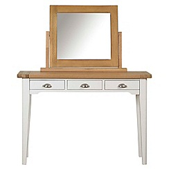 Debenhams - Oak and painted 'Wadebridge' dressing table with mirror