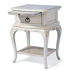 Willis & Gambier - Ivory 'Chateau' bedside cabinet with single drawer