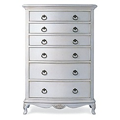 Willis & Gambier - Ivory 'Chateau' wide 6 drawer chest