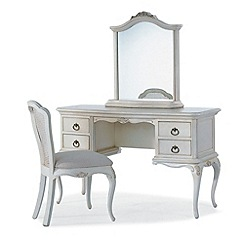 Willis & Gambier - Ivory 'Chateau' dressing table with mirror and chair