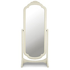 Willis & Gambier - Ivory 'Chateau' cheval mirror