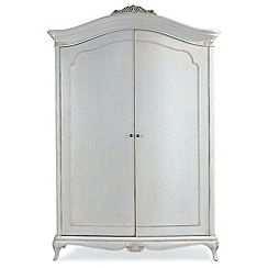 Willis & Gambier - Ivory 'Chateau' wide double wardrobe