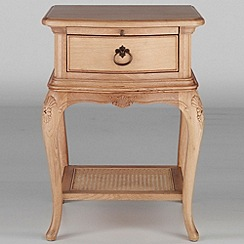 Willis & Gambier - Oak 'Chateau' bedside cabinet with single drawer